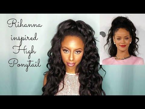 Rihanna inspired wavy high ponytail  || feat Krshairgroup.com