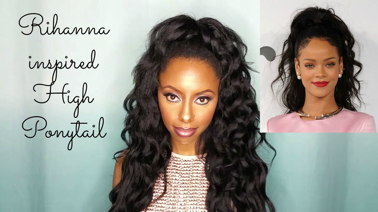 Rihanna Inspired Wavy High Ponytail Feat Krshairgroup