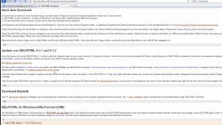 1. Download, Installation  mit 7zip und SELFHTML