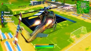 FORTNITE HELICOPTER GAMEPLAY! (NEW UPDATE)