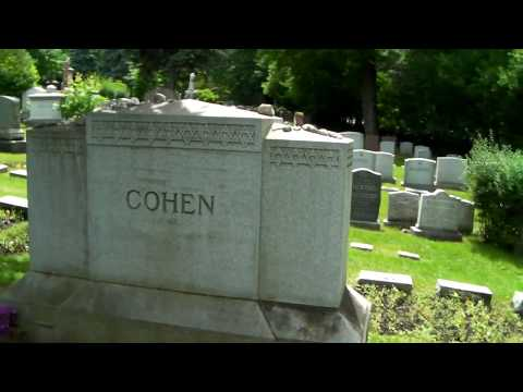 Leonard Cohen  Resting Place, grave, tomb, Montreal Canada