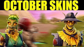 Fortnite NEW SEASON 6 SKINS (Upcoming October Skins In the item Shop) Hay man & Straw ops