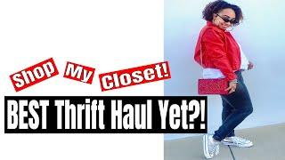BEST $100 TRY ON Thrift Haul Yet?! & Shopping My Closet on Poshmark!