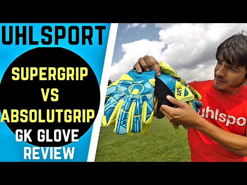GK Glove FACE OFF! Uhlsport SUPERgrip vs. ABSOLUTgrip latex