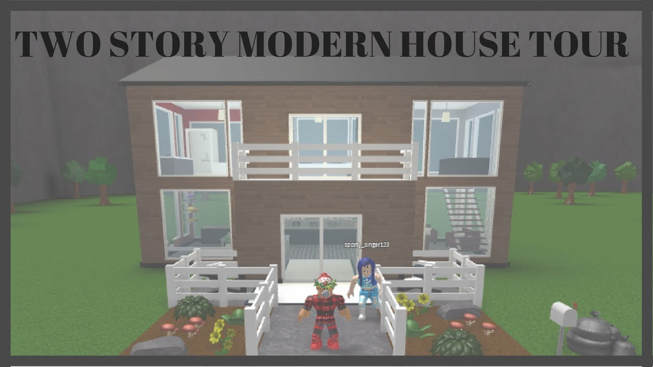 Two Story Modern House Tour: Welcome To Bloxburg