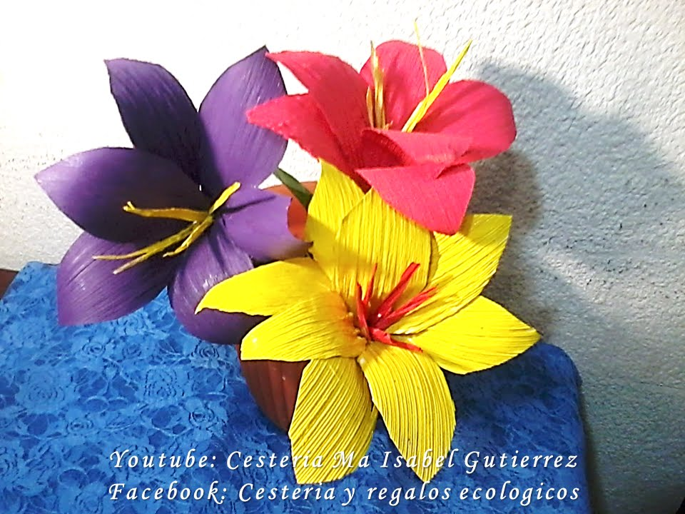 Flores De Hojas De Maiz Diy How To Make Corn Husk Flowers Youtube