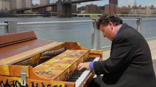 Sing for Hope Donor Artist Jeffrey Biegel plays Street Piano at Brooklyn Bridge Park