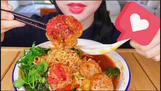 ASMR MIE BAKSO PEDAS | SPICY INDONESIAN MEATBALL NOODLES | EATING SOUNDS | NO TALKING