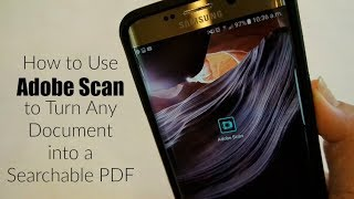 How to Use the Adobe Scan App