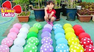 [시원한 물풍선 터트리기] 라임의 핑거패밀리 율동동요  LimeTube & Toy 라임튜브