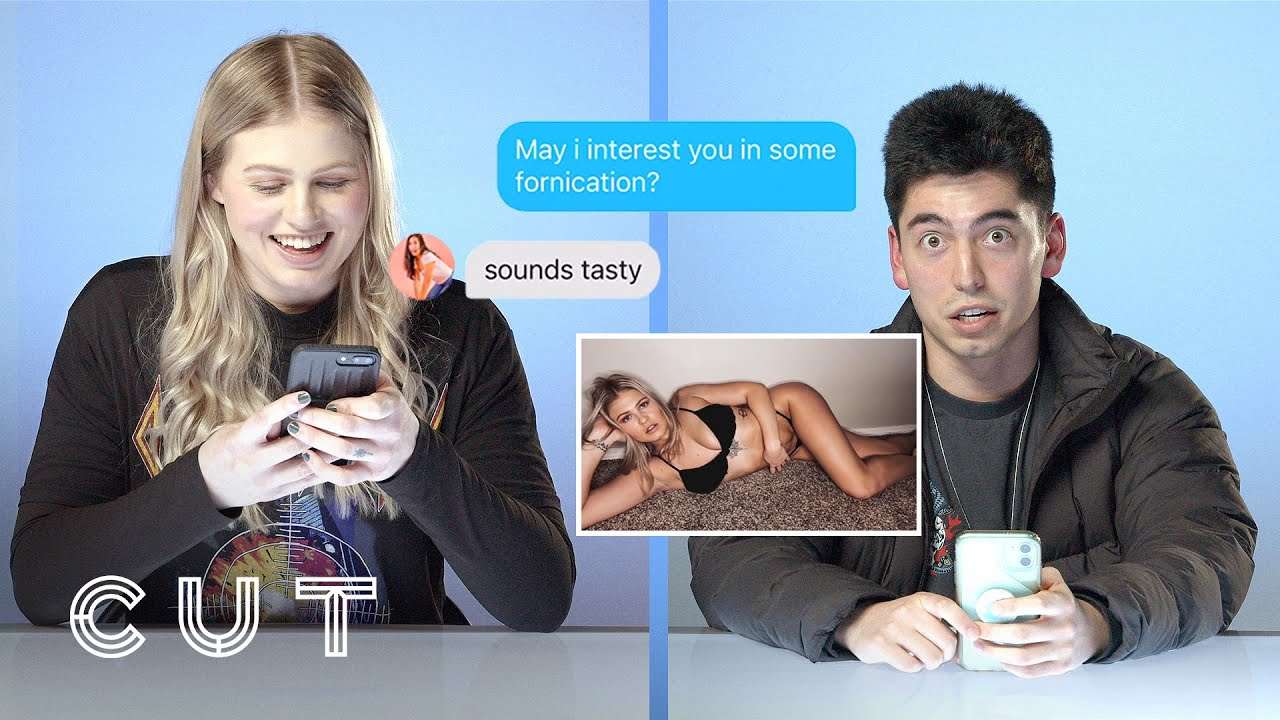 Download Blind Dates Look Through Each Other's Phones | Unlocked | Cut