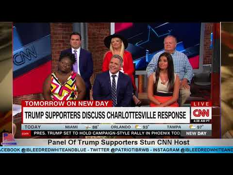 Panel Of Trump Supporters Stun CNN Host When Asked About Charlottesville