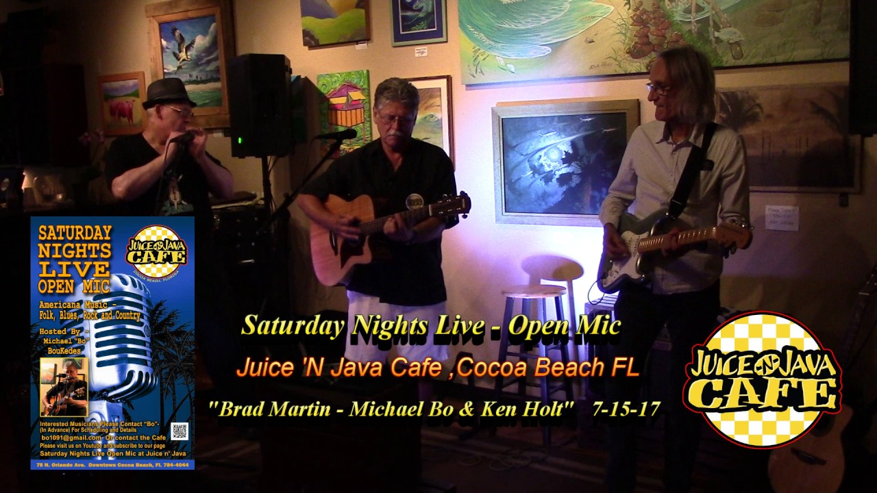 Michael Bo With Brad Martin Ken Holt Juice N Java Cafe Open Mic 7 15 17