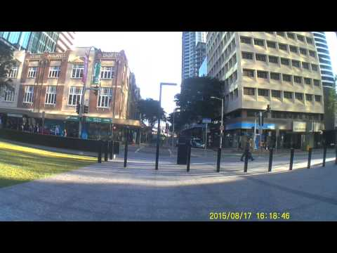 Bike ride in Brisbane (Herston to South Bank) - Aug/2015