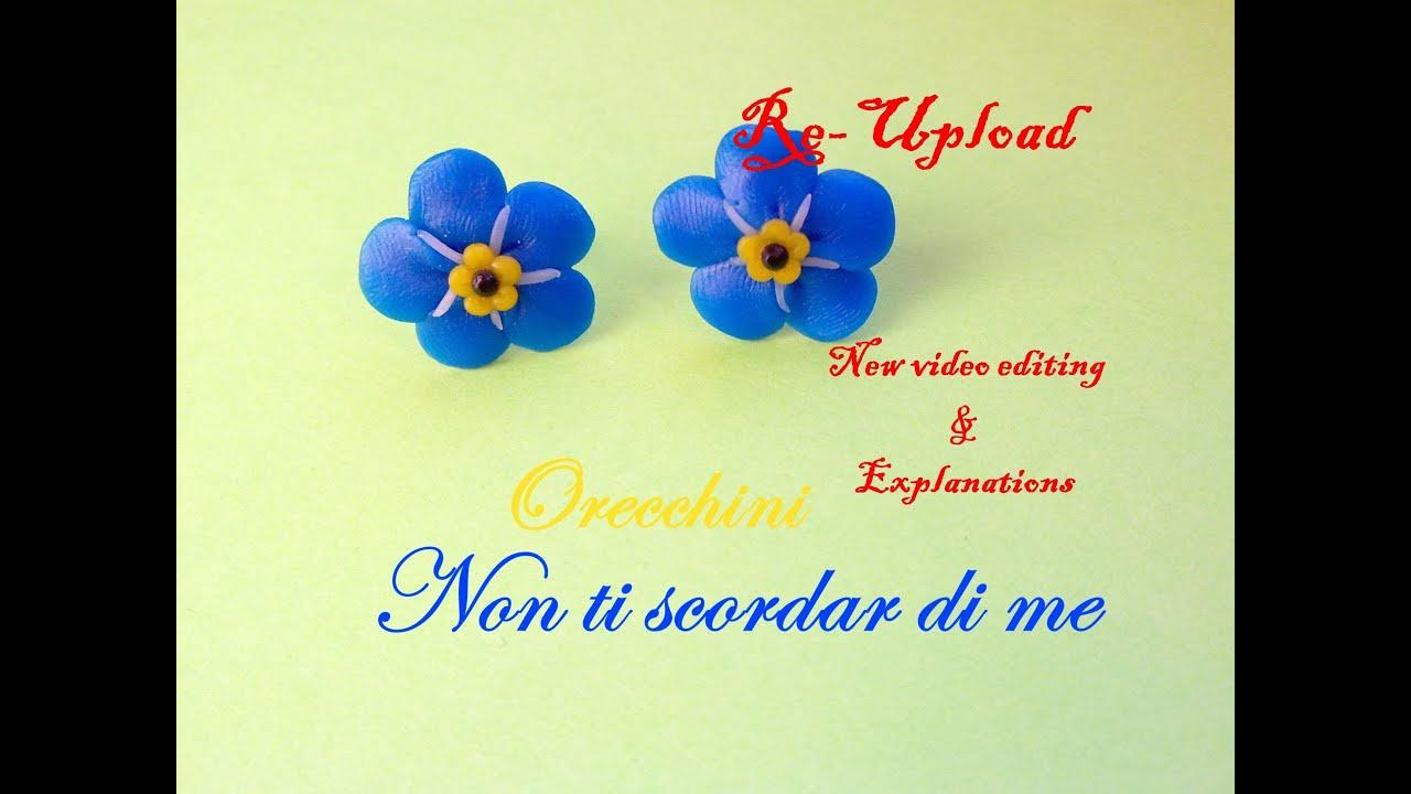 Fiore Giallo 6 Petali.Non Ti Scordar Di Me Forget Me Not Polymer Clay Flower