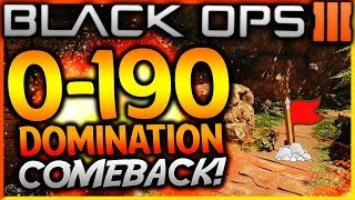 "BLACK OPS 3 - ""0-190 DOMINATION COMEBACK WIN!"" - Team Challenge #40! (HUGE 200 Point COMEBACK Win!)"