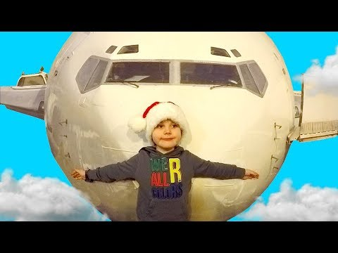 Pretend Play with Airplane Pilot Flight Simulator at Children's Museum