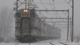 NICTD Train Amidst a Blizzard at Stateline 2013.03.05