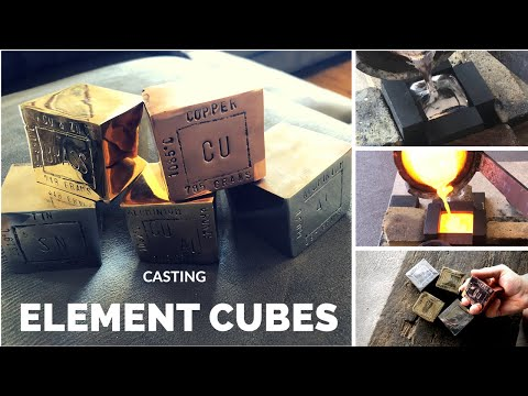 Element Cube Casting - Trash To Treasure - Tin - Copper - Brass - Bronze - Aluminium