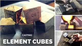 Element Cube Casting - Trash To Treasure - Tin - Copper - Brass - Bronze - Aluminium