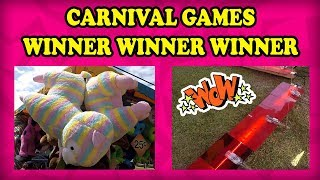 Strawberry Festival CARNIVAL GAMES! Midway Games like Bottle Up, Bank A Ball, and Crazy Ball! TeamCC