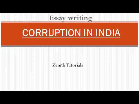 Essay writing- CORRUPTION IN INDIA