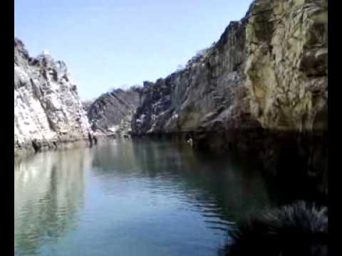 Marble Rocks Canyon at Narmada River Jabalpur MP India
