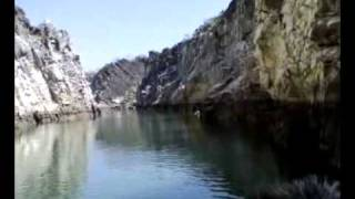 Marble Rocks Canyon at Narmada River Jabalpur MP India