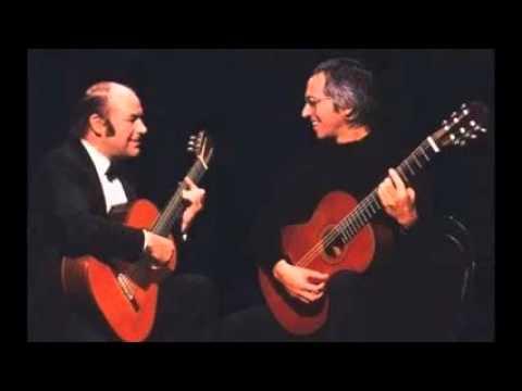 Julian Bream and John Williams: studio concert playing Milan, Mudarra, Sanz, Tippet and Schubert