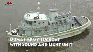 u s army tug st 74 kit 1256 rc tugboat with diy engine sound and light module