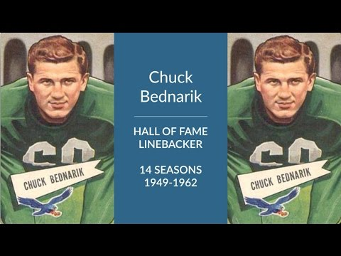 Chuck Bednarik Hall of Fame Football Linebacker and Center