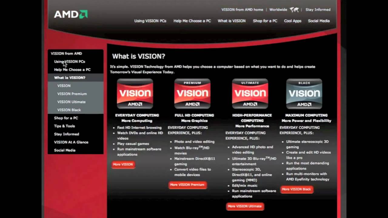 AMD VISION DRIVER WINDOWS