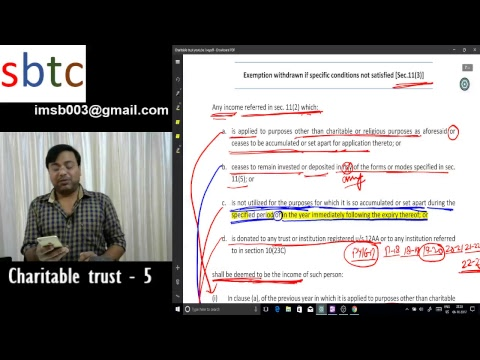Charitable trust (Lecture - 5)