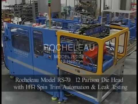 Rocheleau RS-70 Blow Molding Machine 12 Head 8 oz Juice Bottle