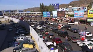 U.S. Shuts Down Major Port Of Entry After Migrants Rush Southern Border | NBC Nightly News