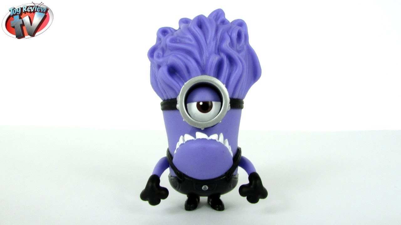Despicable Me 2 Purple Minion 1 Action Figure Toy Review ...