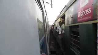 Thrilling Parallel Action : Bardhaman Bound Fast EMU Racing With Chandanpur Bound EMU!!