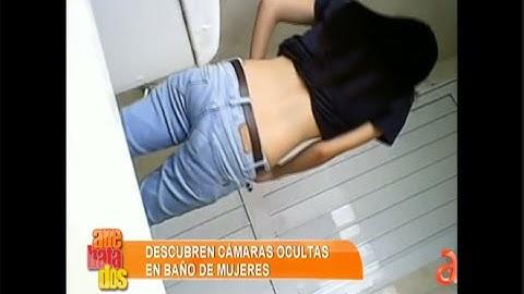 Descubren cámaras ocultas en baños de mujeres - América TeVé