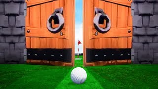 GREATEST EVER MOVING DOOR HOLE IN ONE! (Golf It)