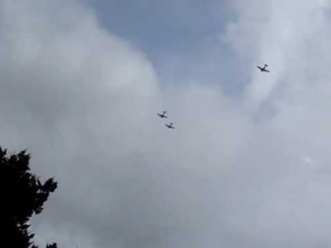 Commemorative Air Force flyover