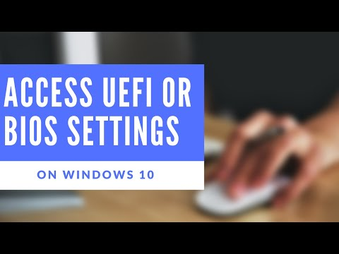How to - access the BIOS and UEFI settings on Windows 10 HP