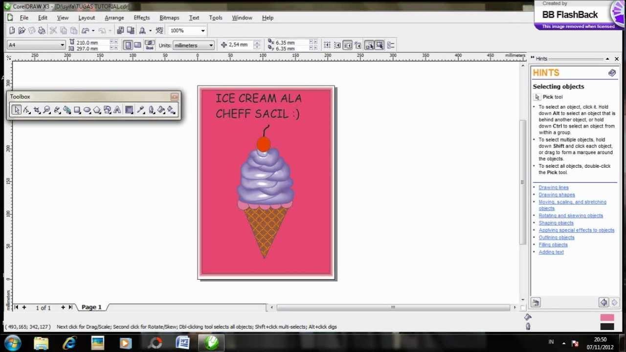 tutorial membuat produk menggunakan corel draw X3 - YouTube