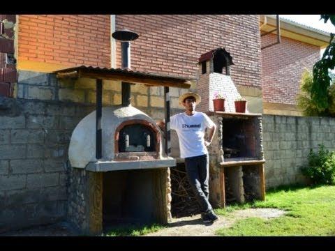 Construcci n horno de ladrillo y barro casero 100 wood - Horno de piedra casero ...