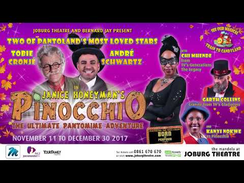 Pinocchio, the Pantomime Adventure at Joburg Theatre 2017