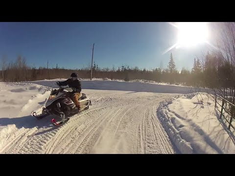 Snowmobile Near Collision at Hurley, Wisconsin