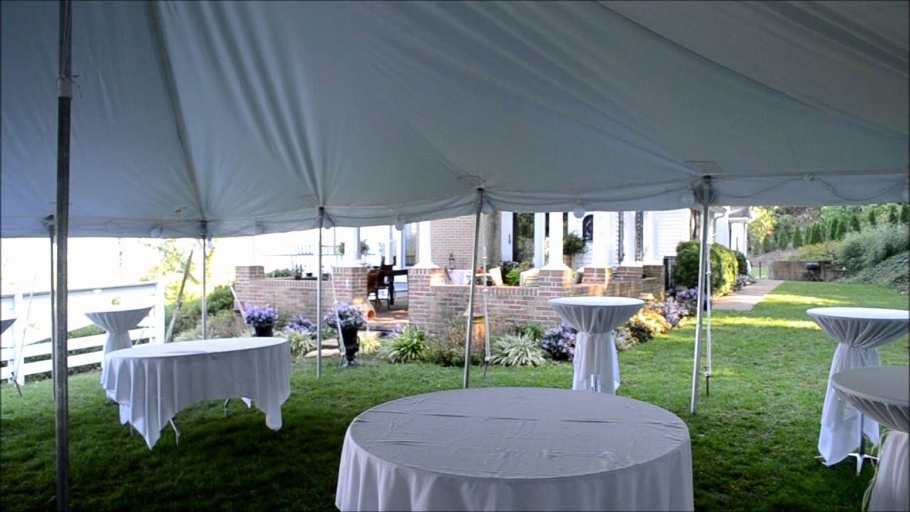 Tent Rental Cincinnati   30x30 Pole Tent Virtual Tour   A Gogo