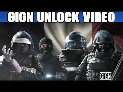 Rainbow Six Siege All GIGN Operators Unlock Video - Montagne Twitch Doc Rook Cinematic