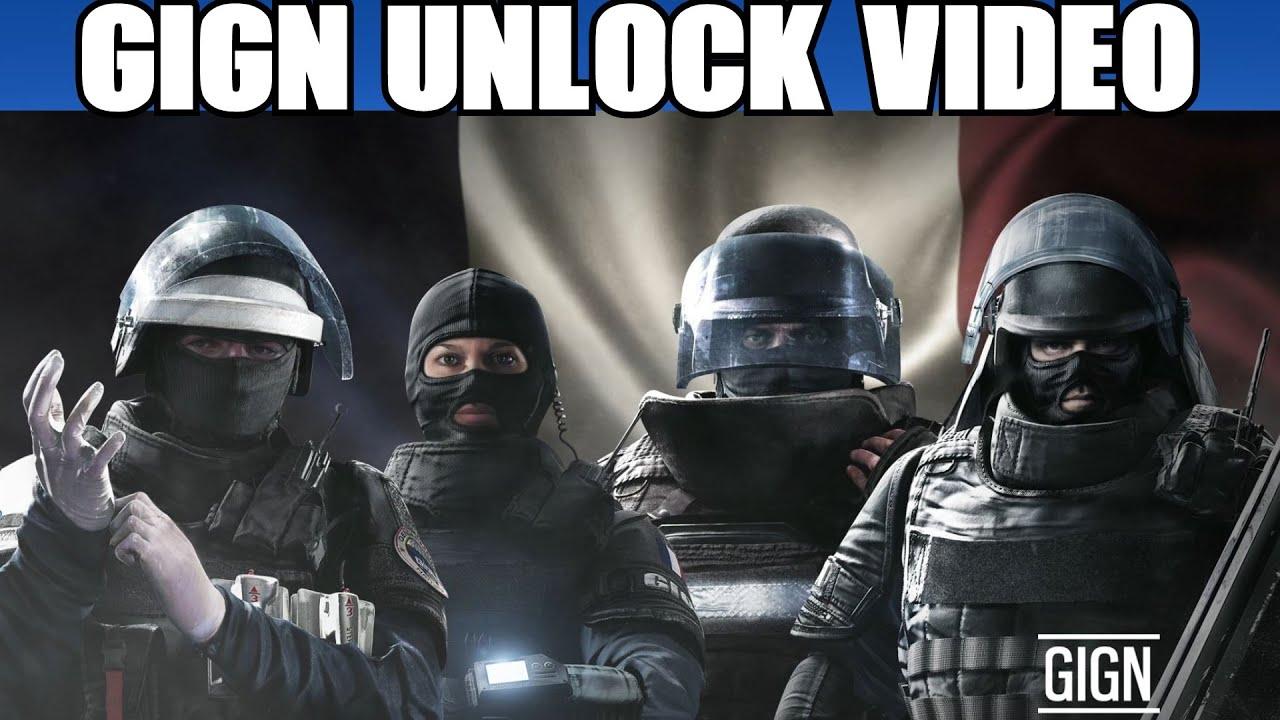 Rainbow Six Siege Gign Operators: Rainbow Six Siege All GIGN Operators Unlock Video