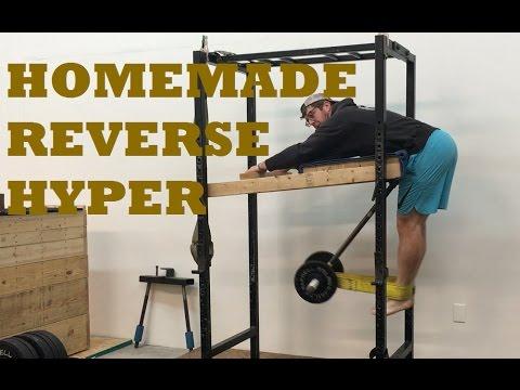 homemade reverse hyper for garage or home gym  youtube