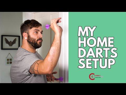 My Bargain/Budget Play From Home Darts Setup! - Dartboard, Lighting, Surround Oche Review & Summary